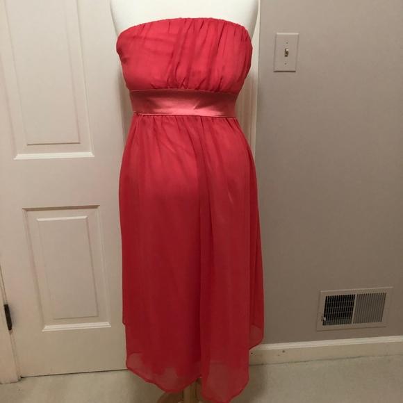 Maternite Dresses & Skirts - Maternite Coral Strapless Maternity Dess